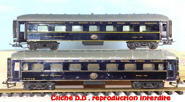 WAGONS MARTIN/FEX-MINIATRAIN 4 éme série 1953/54 1ère partie wagons longueur 23 cm 15020904024416773112947134