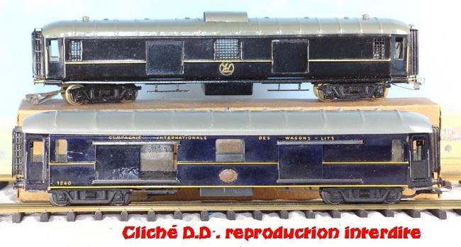 WAGONS MARTIN/FEX-MINIATRAIN 4 éme série 1953/54 1ère partie wagons longueur 23 cm 15020904030816773112947158