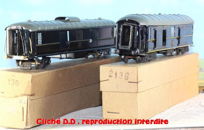 WAGONS MARTIN/FEX-MINIATRAIN 4 éme série 1953/54 1ère partie wagons longueur 23 cm 15020904030916773112947159