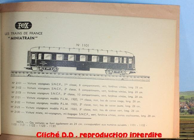WAGONS MARTIN/FEX-MINIATRAIN 4 éme série 1953/54 1ère partie wagons longueur 23 cm 15020904393716773112947249