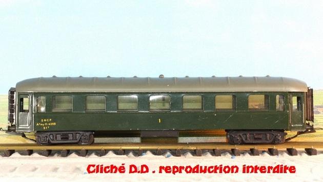 WAGONS MARTIN/FEX-MINIATRAIN 4 éme série 1953/54 1ère partie wagons longueur 23 cm 15021008204516773112952067