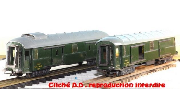 WAGONS MARTIN/FEX-MINIATRAIN 4 éme série 1953/54 1ère partie wagons longueur 23 cm 15021008210116773112952081