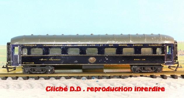 WAGONS MARTIN/FEX-MINIATRAIN 4 éme série 1953/54 1ère partie wagons longueur 23 cm 15021008210716773112952087