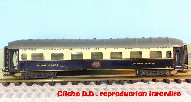 WAGONS MARTIN/FEX-MINIATRAIN 4 éme série 1953/54 1ère partie wagons longueur 23 cm 15021008211316773112952093