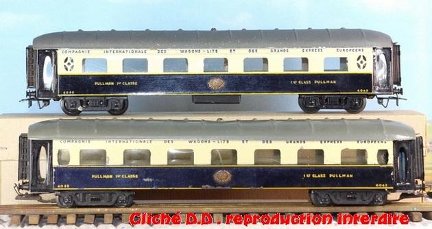 WAGONS MARTIN/FEX-MINIATRAIN 4 éme série 1953/54 1ère partie wagons longueur 23 cm 15021008211516773112952095