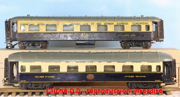 WAGONS MARTIN/FEX-MINIATRAIN 4 éme série 1953/54 1ère partie wagons longueur 23 cm 15021008211616773112952097