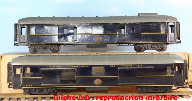 WAGONS MARTIN/FEX-MINIATRAIN 4 éme série 1953/54 1ère partie wagons longueur 23 cm 15021008213216773112952106