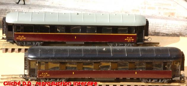 WAGONS MARTIN/FEX-MINIATRAIN 4 éme série 1953/54 1ère partie wagons longueur 23 cm 15021103202116773112953500