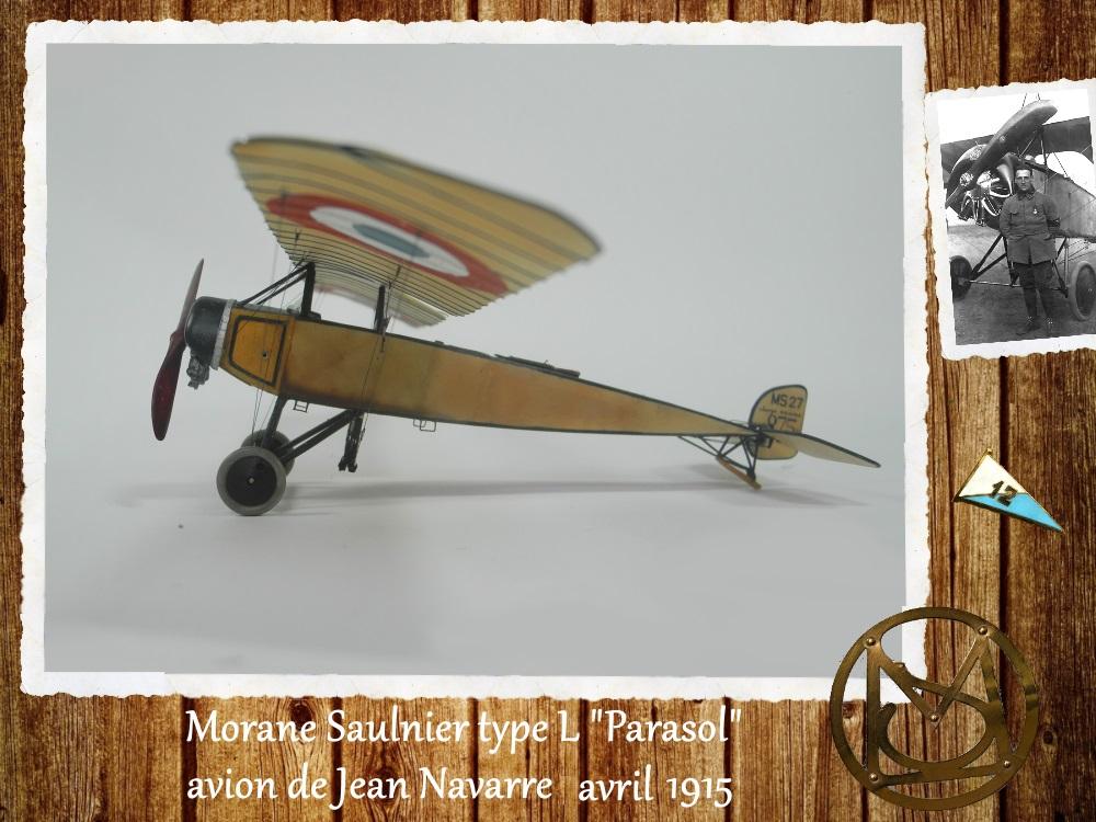 """1/48 Eduard: MS type L """"parasol"""" J. Navarre avril 1915 15021104455718634312953734"""