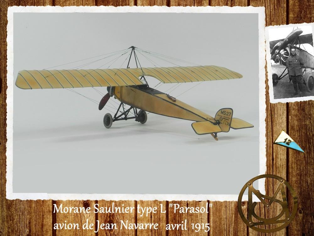 """1/48 Eduard: MS type L """"parasol"""" J. Navarre avril 1915 15021104455918634312953741"""