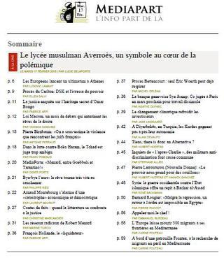 Médiapart Du mardi 17 Février 2015
