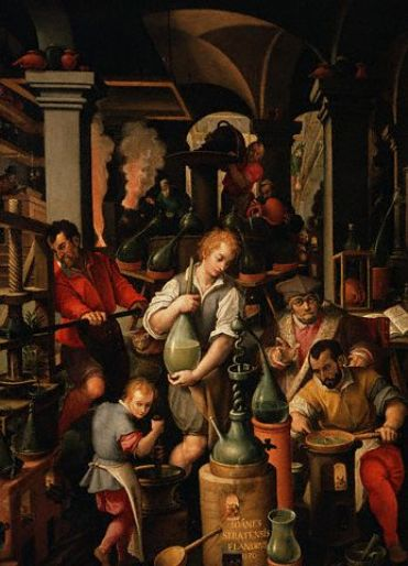 L'Alchimiste sous le regard des peintres 15022107492119075512994929