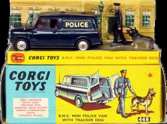 B.M.C Mini Police Van Corgi-Toys
