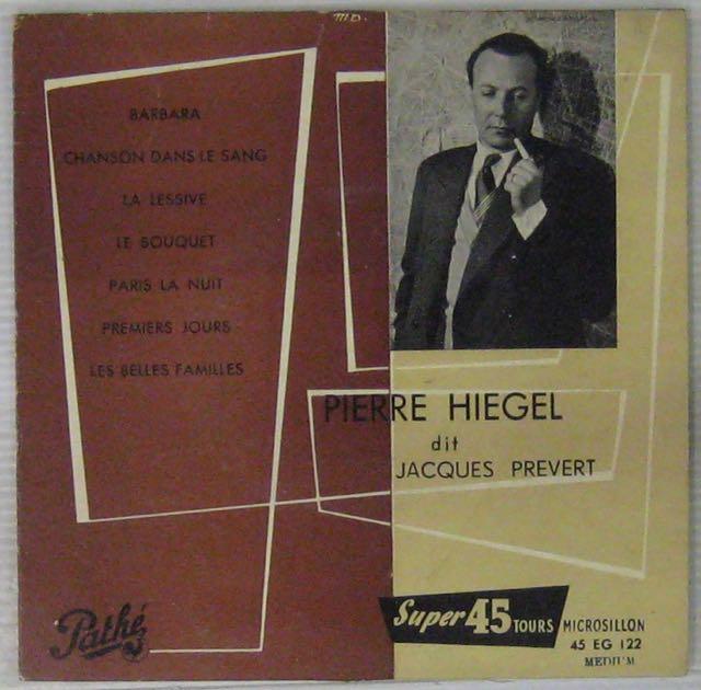 PRÉVERT JACQUES - Par Pierre Hiegel - 7inch (SP)