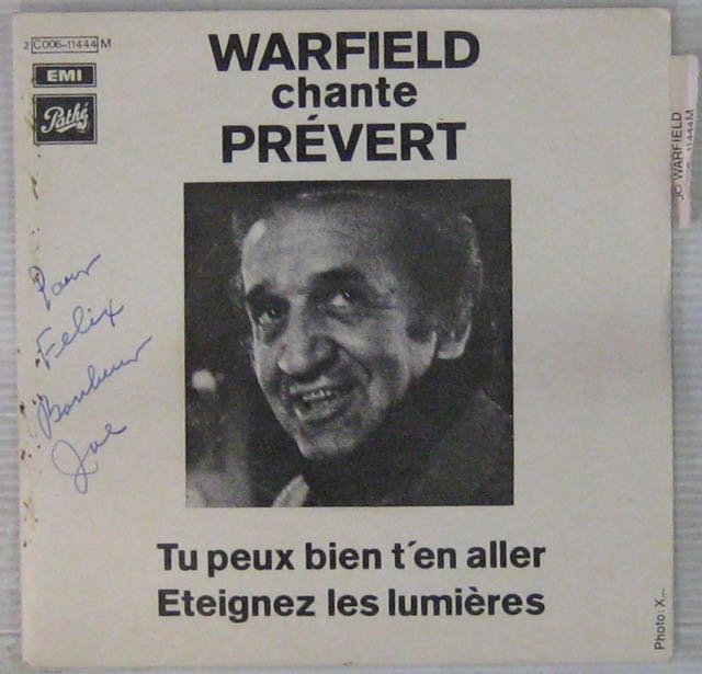 PRÉVERT JACQUES - Par Warfield - 7inch (SP)