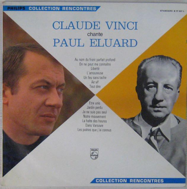 ELUARD PAUL - Chanté par Claude Vinci - LP