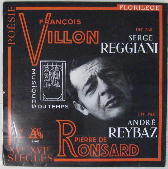 REGGIANI SERGE - Dit François Villon et Pierre de Ronsard - LP