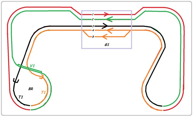 circuit simple à double voie