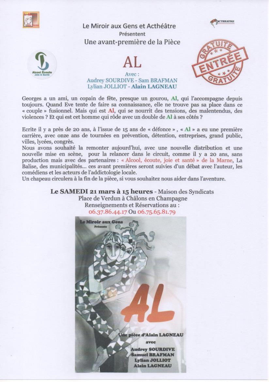 """"""" AL """"  Affiche  Pièce  de  Théâtre 150305012426947213036086"""