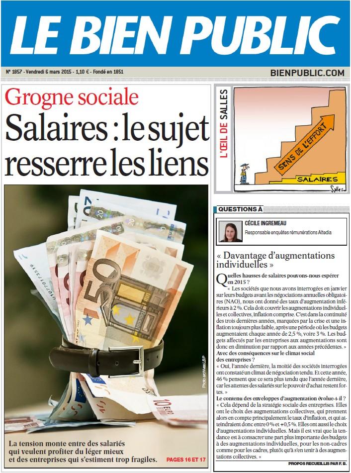 La lente montée de la grogne salariale (Bien Public) 15030606420019270213039515
