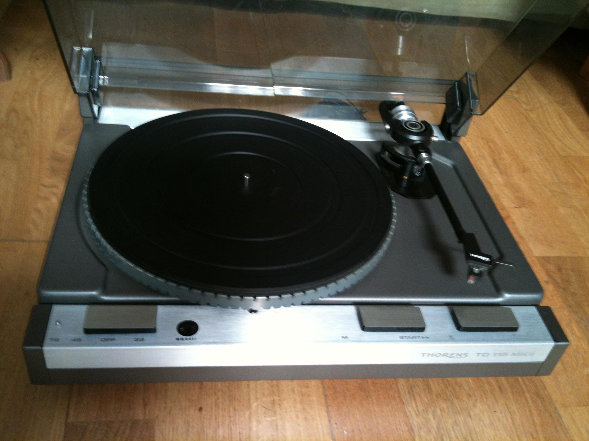 Platine thorens td 115 mk ii turntable vintage rare design hifi ebay - Achat platine vinyle vintage ...