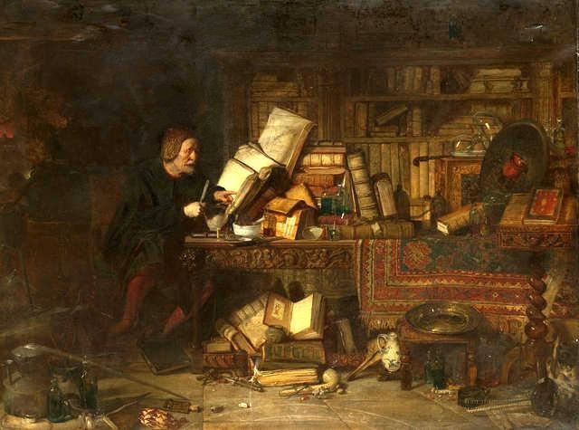 L'Alchimiste sous le regard des peintres 15032107110119075513091585
