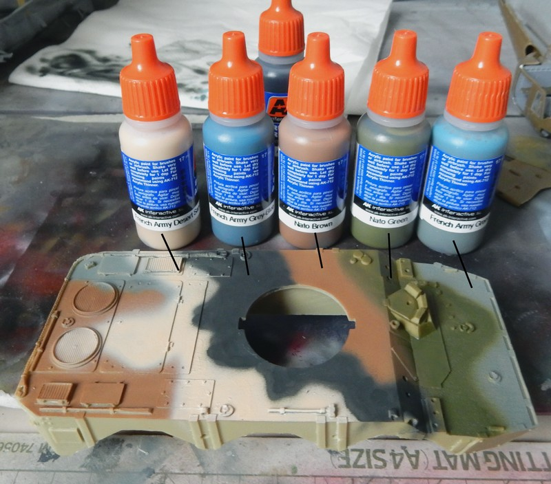 "Test set peinture AK interactive ""Modern French Army Color"" 15032201380916118613093769"