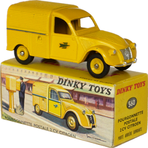 Citroën 2cv fourgonnette postale Dinky-Toys