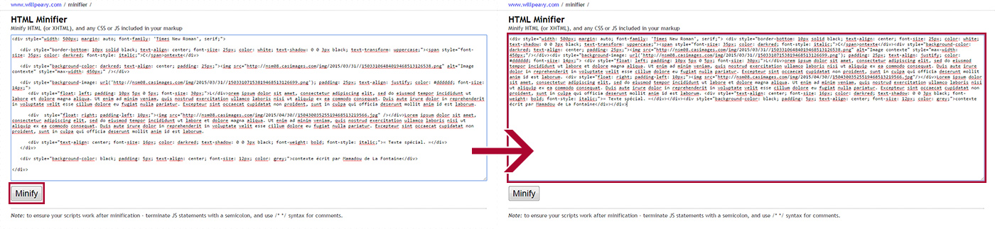 Illustration HTML Minifier