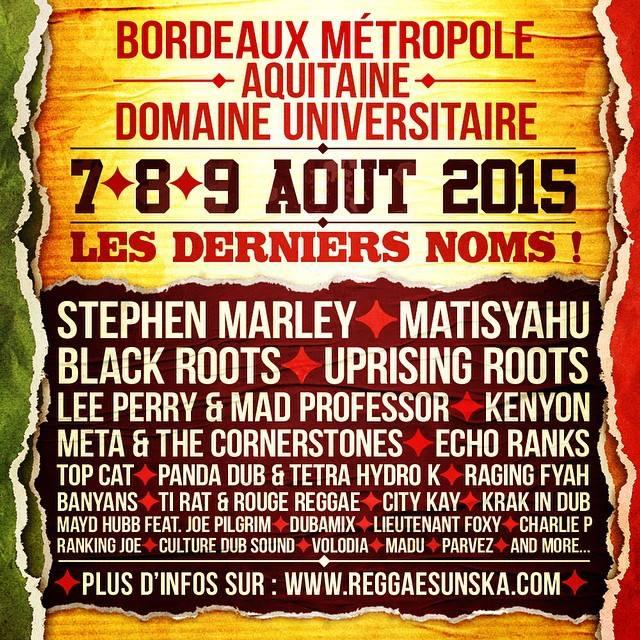 Reggae Sun Ska : Les derniers noms de la programmation 2015 !!! 15050602334019584213240652