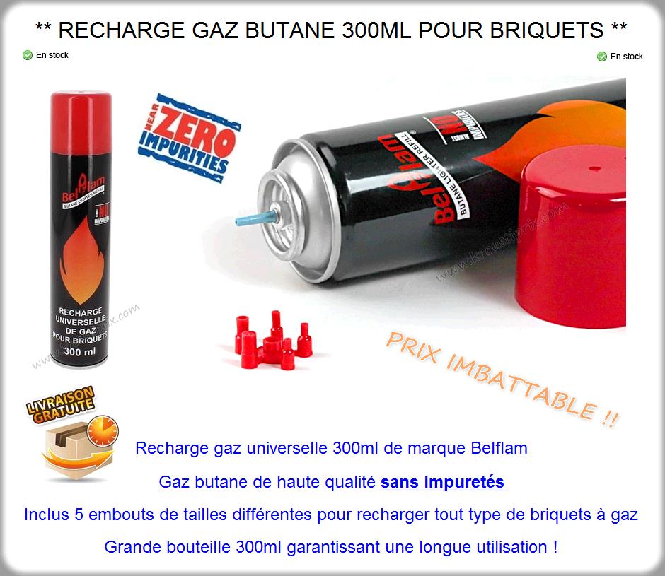 Recharge gaz butane universelle 300ml pour briquet gaz sans impuret s ebay - Recharge gaz briquet ...