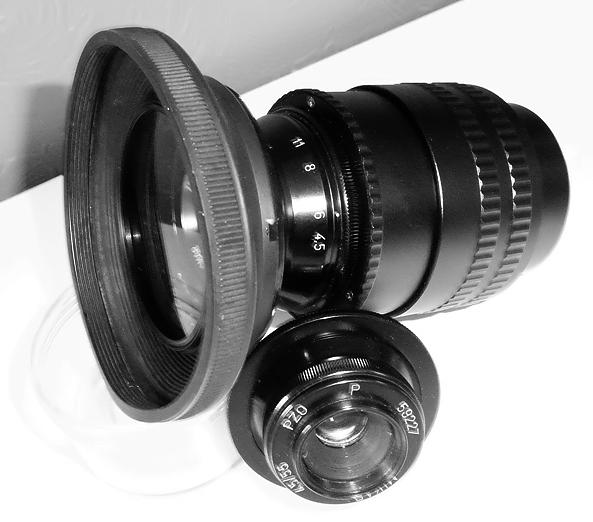 test d' un objectif d' agrandisseur PZO 105mm f 4,5 15060204595317393313324790