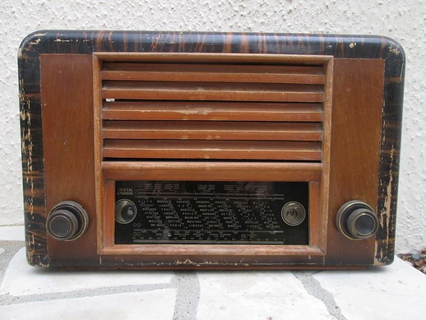 ancienne tsf poste de radio old radio vintage crystal. Black Bedroom Furniture Sets. Home Design Ideas