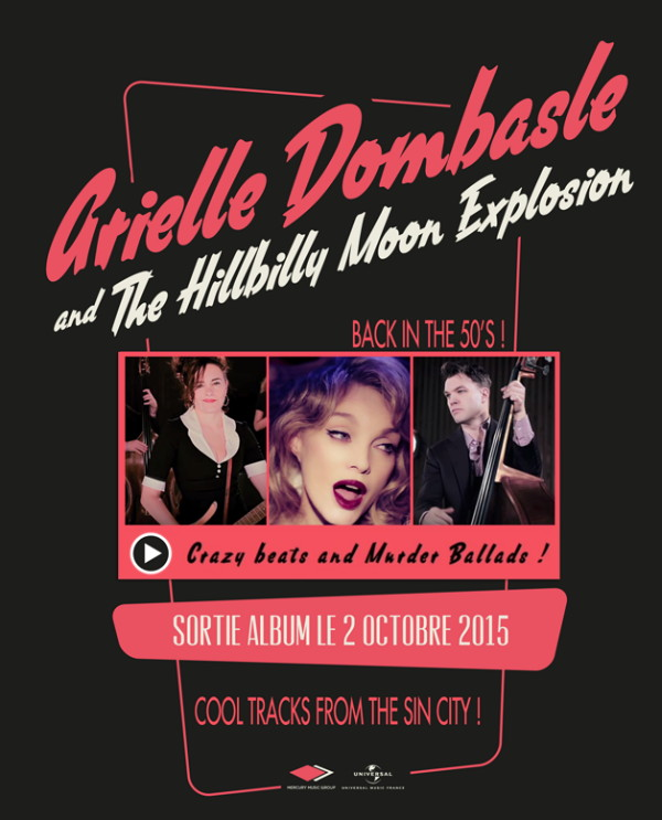"""ARIELLE DOMBASLE & THE HILLBILLY MOON EXPLOSION, """"Crazy Beats and Murder Ballads!"""" (2015) 15081612060617899513511850"""