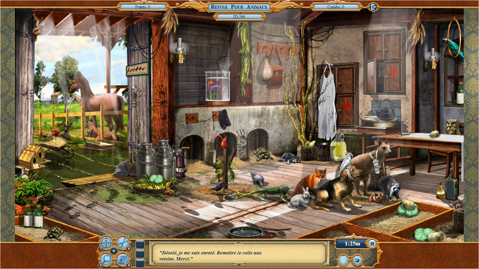 refuge pour animaux jeu 1
