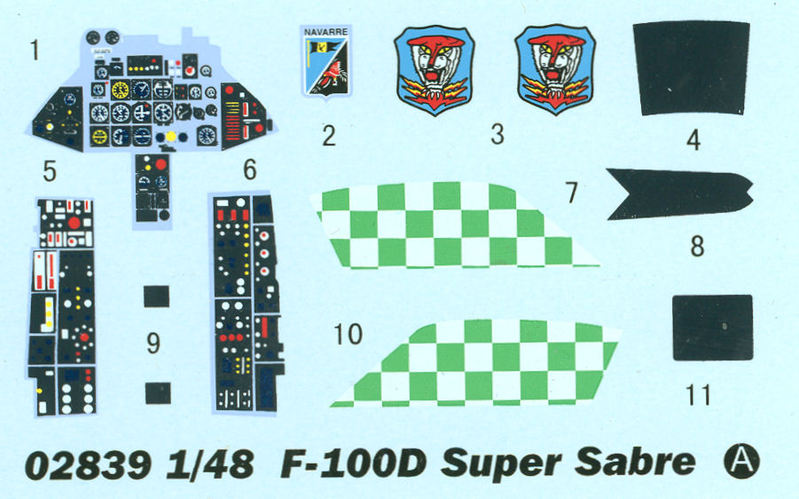 N.A. F-100D Super Sabre [Trumpeter 1/48] 15090106402210194413548104