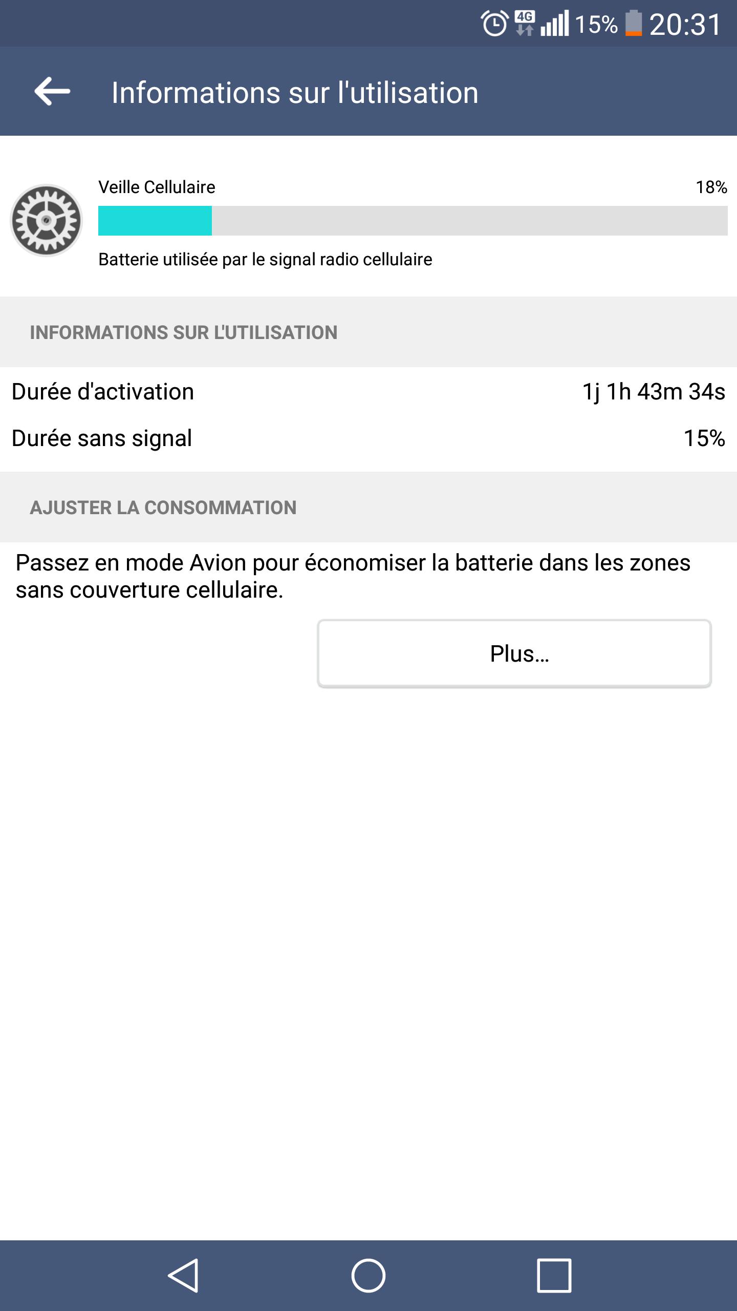 [AIDE] Veille Cellulaire : consommation de batterie 15090608363317665413560974