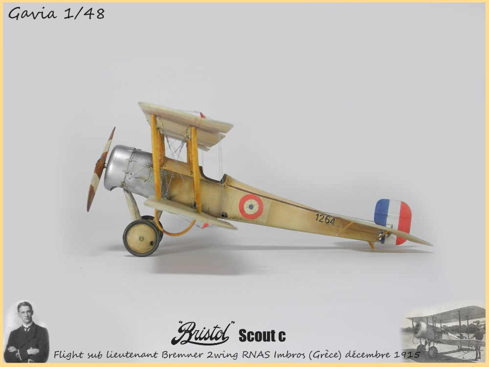 Gavia 1/48 Bristol Scout 2.wing RNAS Thassos Grèce juin 1916 15091308032318634313579543