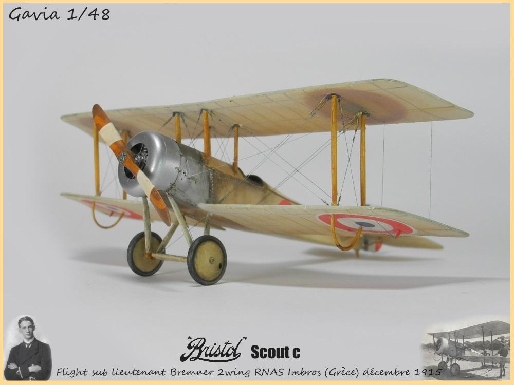 Gavia 1/48 Bristol Scout 2.wing RNAS Thassos Grèce juin 1916 15091308032418634313579544