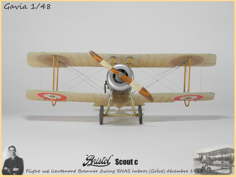 Gavia 1/48 Bristol Scout 2.wing RNAS Thassos Grèce juin 1916 15091308032518634313579545