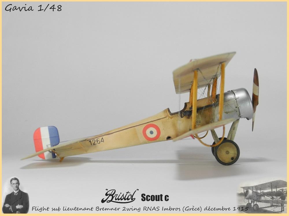 Gavia 1/48 Bristol Scout 2.wing RNAS Thassos Grèce juin 1916 15091308032618634313579547