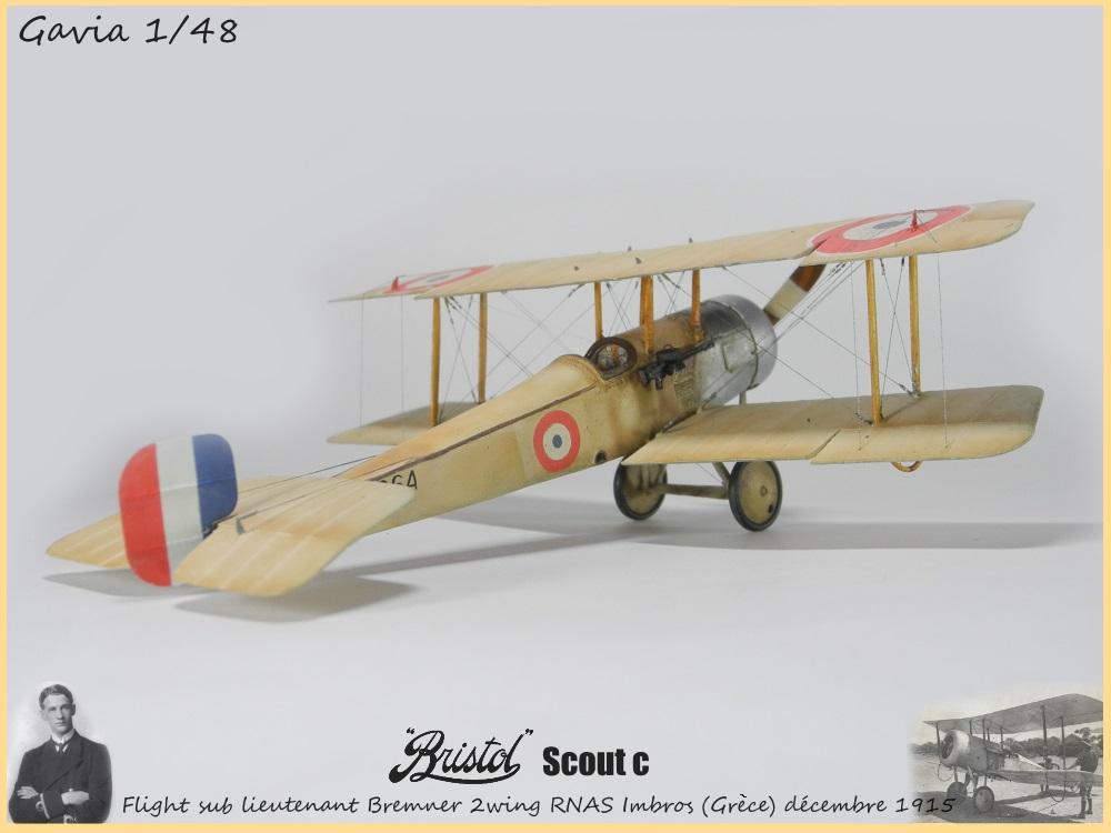 Gavia 1/48 Bristol Scout 2.wing RNAS Thassos Grèce juin 1916 15091308032718634313579548
