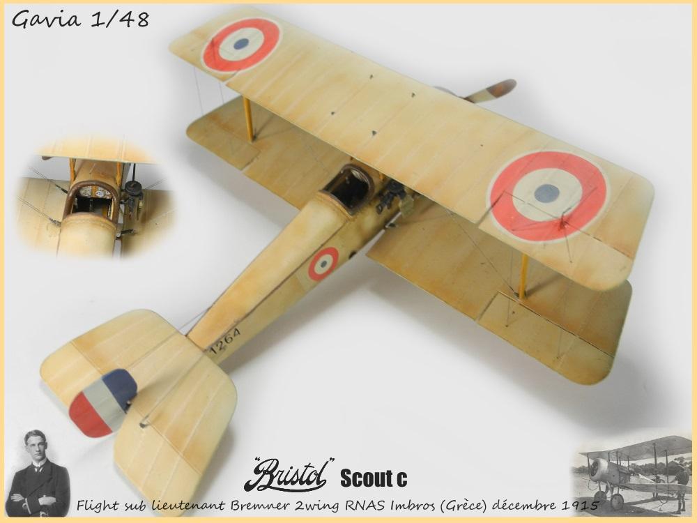 Gavia 1/48 Bristol Scout 2.wing RNAS Thassos Grèce juin 1916 15091308032818634313579549