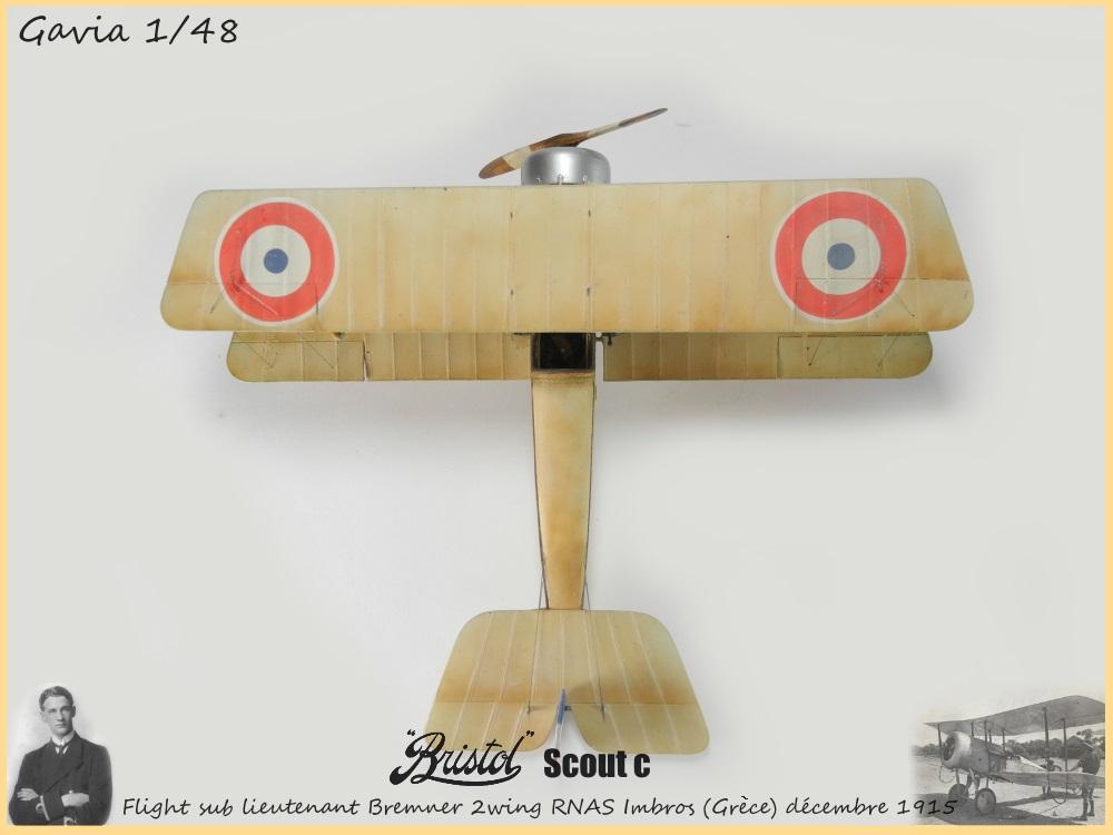 Gavia 1/48 Bristol Scout 2.wing RNAS Thassos Grèce juin 1916 15091308032918634313579550
