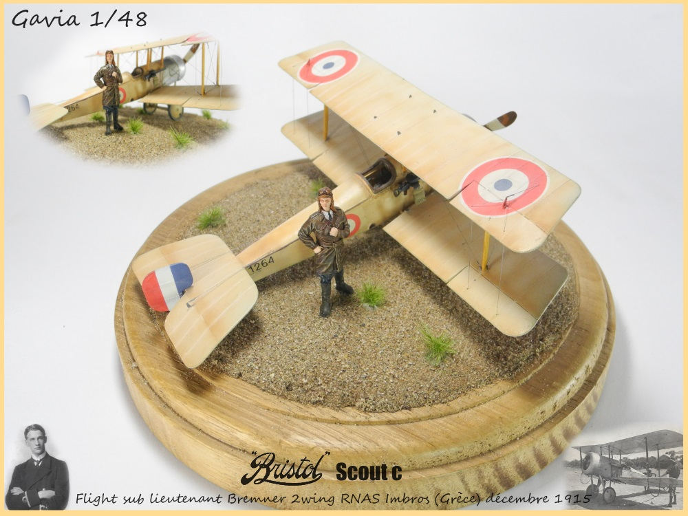 Gavia 1/48 Bristol Scout 2.wing RNAS Thassos Grèce juin 1916 15091308033118634313579552