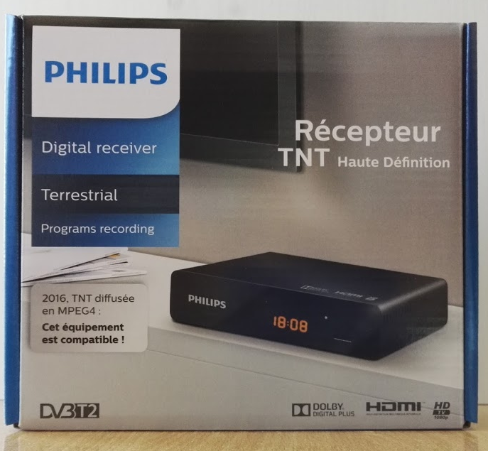 philips dtr 3000 - tnt hd dvbt2 pvr - disque dur multimédia - tv