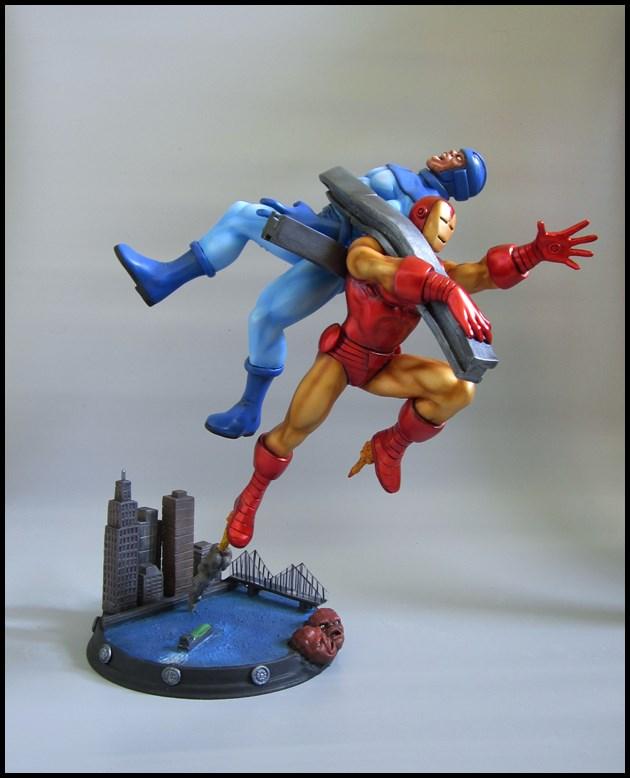 Diorama Iron man vs controleur 15091406093116083613581587