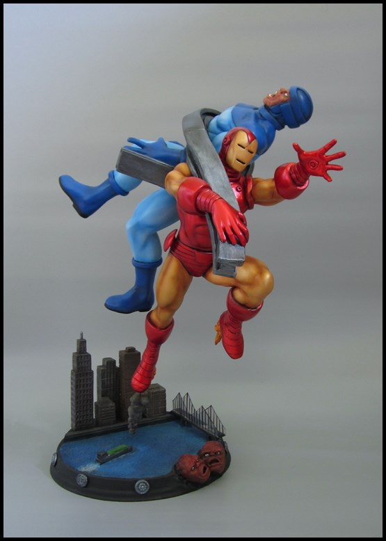 Diorama Iron man vs controleur 15091406093816083613581592