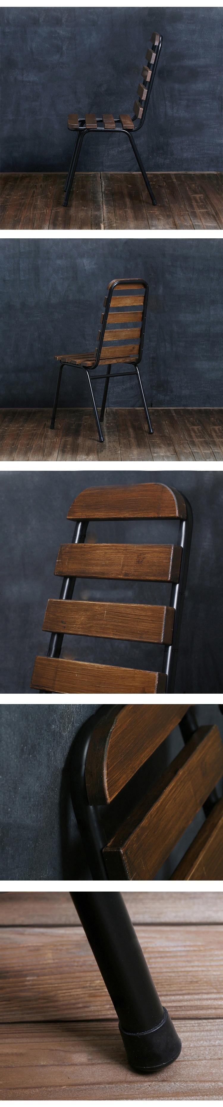 chaise m tal barreau de bois design luxe loft art d co style retro vintage ebay. Black Bedroom Furniture Sets. Home Design Ideas