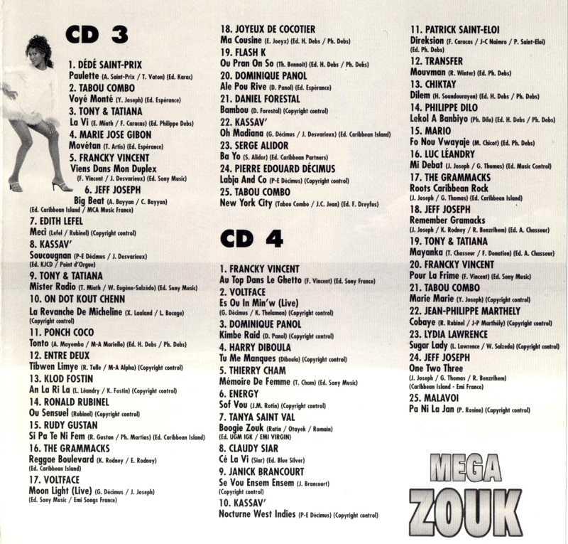 Mega Zouk (album 4 CD) 15102202525820259513682561